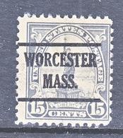 U.S. 566    Perf. 11   *    MASS.  1922-25 Issue - Precancels