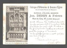 Liège - Autel Du S.S. à La Cathédrale De Liège - Publicité Fabrique D'orfèvreries & Bronzes D'église Jos Dehin & Frères - Luik