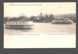 Liège - Exposition Universelle Et Internationale De Liège 1905 - Le Pont De L'Exposition - Les Piles En Rivière - Liege