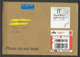 GREAT BRITAIN 2019 Registered Air Mail Cover To Estonia - 1952-.... (Elizabeth II)
