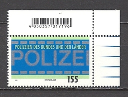 Deutschland / Germany / Allemagne 2019 3480 ** Polizei (01.07.19) - Ungebraucht