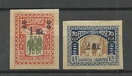Estonia Estland 1921 Michel 25 - 26 * - Estonia