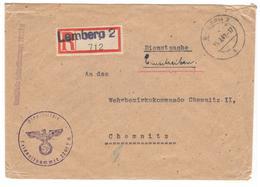 21455 - Recommandée De LEMBERG - Allemagne