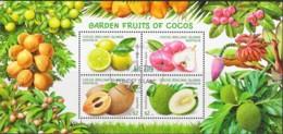 Cocos Islands 2017 Garden Fruits Of Cocos Minisheet CTO - Cocos (Keeling) Islands