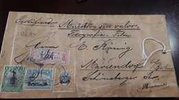 O) 1901 CIRCA - COSTA RICA, BULTO POSTAL -POSTAL BULK, BRAULIO CARRILLO -BRANLIO -SC 48 10c, STATUE JUAN SANTAMARIA SC 4 - Costa Rica