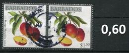 Barbados - Früchte / Fruits 2011 - 1,50 $ Im Paar / Pair - Oo Oblit. Used Gebruikt - Barbados (1966-...)