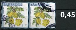 Barbados - Früchte / Fruits 2011 - 1,25 $ Im Paar / Pair - Oo Oblit. Used Gebruikt - Barbados (1966-...)