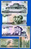 Corée  Du  Nord  5  Billets - Corée Du Nord
