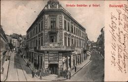 ! Alte Ansichtskarte Bukarest, Bucuresti, Strazile Smardan Si Selari, Rumänien, Feldpost, 1917 - Rumänien