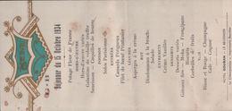 2370 MENU1934   NON  ECRITE - Recettes (cuisine)