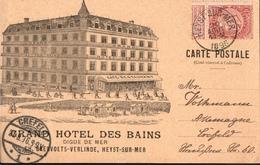 ! Heyst Sur Mer, Heist, 1896, Schöne Werbekarte, Grand Hotel Des Bains, Belgien, Advertisement, Reklame - Heist