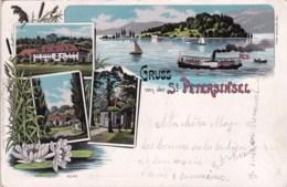 Suisse - Bern - Gruss Von Der ST PETERSINSEL - Litho  - 1902 - BE Berne