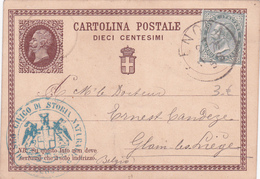 Entier  Postal Stationery - Italie / Italia - EP Ancien De 1877! - Etat Attention Pli Coin Droit Inférieur - 1861-78 Vittorio Emanuele II