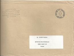 Cachet Manuel Port Payé De Ste Foy Tarentaise _ PP à La Place De L'heure - Postmark Collection (Covers)