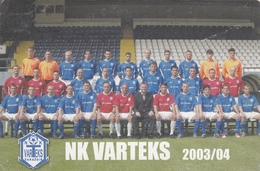 Soccer Football Team NK Varteks Varazdin Croatia - Calcio