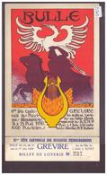 FORMAT 10x15cm - BULLE - FETE CANTONALE DE MUSIQUE 1930 - AVEC BILLET DE LOTERIE ATTACHE - B ( PLI D'ANGLE ) - FR Fribourg
