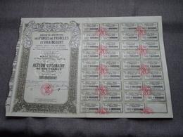 S.A. Des FORGES De FRONCLES Et VRAINCOURT : Action De 100 Francs Au Porteur N° 027.368 ( Voir Photo ) - Actions & Titres