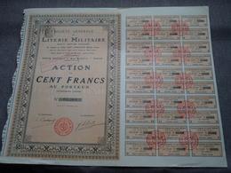 LITERIE MILITAIRE S.A. Française : Action De 100 Francs Au Porteur > N° 03.560 ( Voir Photo ) - Acciones & Títulos