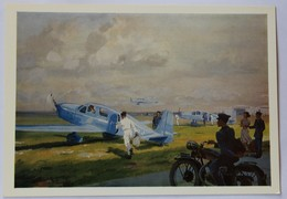 Carte Postale Philatélique Liaison Postales Aériennes Compagnie Air Bleu Départ Des Avions Simoun Aviation - Aviation