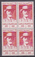 PGL DF003 - ITALIA REPUBBLICA 1959 SASSONE N°860 ** QUARTINA - 6. 1946-.. Repubblica