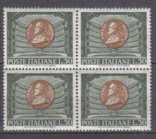 PGL DF013 - ITALIA REPUBBLICA 1963 SASSONE N°971 ** QUARTINA - 1961-70:  Nuovi