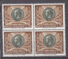 PGL DF016 - ITALIA REPUBBLICA 1963 SASSONE N°974 ** QUARTINA - 1961-70:  Nuovi