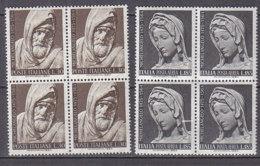 PGL DF018 - ITALIA REPUBBLICA 1964 SASSONE N°977 + AEREA ** QUARTINA - 1961-70:  Nuovi