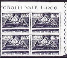 PGL DF032 - ITALIA REPUBBLICA 1965 SASSONE N°1000 ** QUARTINA - 1961-70:  Nuovi