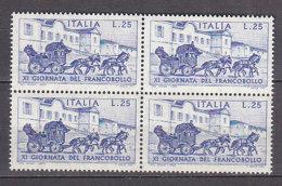 PGL DF103 - ITALIA REPUBBLICA 1969 SASSONE N°1115 ** QUARTINA - 1961-70:  Nuovi