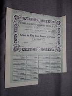 ETs. CHARLES DUPIS & Cie : Action De 500 Francs Au Porteur : N° 7850 ( Voir Photo ) - Acciones & Títulos