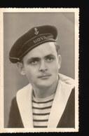 CPA232.....CARTE PHOTO MARIN DU HOVA 5 Janv 1951 ....dos Blanc - Militaria