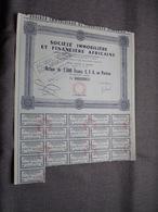 Soc. IMMO Et FINANCE AFRICAINE : Action De 2.000 Francs C.F.A. Au Porteur : N° 003,708 > 1951 ( Voir Photo ) - Afrika
