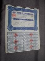 S.A. Des Ets. HASSE : Action De 100 Francs Au Porteur : N° 0,227 ( Voir Photo ) - Actions & Titres