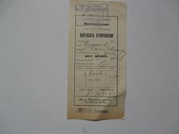 VIEUX PAPIERS - DUPLICATA D'EXPEDITION : Messageries M-C DEPAGNIAT - Titres De Transport