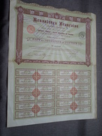 RENASTEREA Française : Part De Fondateur Au Porteur : N° 06,949 ( Voir Photo ) - Actions & Titres