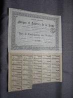 Forges Et Acieries De La KAMA : Titre De Participation Aux Bénéfices Au Porteur : N° 14840 ( Voir Photo ) - Hist. Wertpapiere - Nonvaleurs