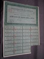 Ets. H. PARADIS : Action De 250 Francs Au Porteur : N° 04934 ( Voir Photo ) - Acciones & Títulos