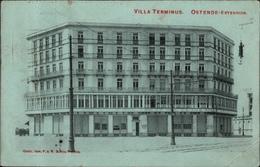 ! Alte Ansichtskarte Ostende Extension, Villa Terminus, 1914 Belgien - Oostende