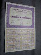 Carrières De Marbre Noir De Faucon Du CAIRE : Action De 100 Francs Au Porteur : N° 001,550 ( Voir Photo ) - Africa