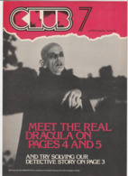 Revue CLUB 7 En Anglais DRACULA 8 Pages En 1979 An MGP Magazine Series 19 - Culture