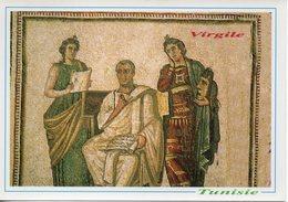 Mosaîques Romaines (virgile Et Les 2 Muses Clio Et Melpomène III Siècle )musée Du Bardo - Tunisia