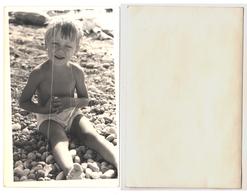 1960s Original 14x9cm Old Photo Photography Vintage Child Boy Pants Beach Sea Russia USSR (0140) - Pin-ups