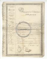 /!\ 1306 - Parchemin - 1836 - Passy -  Passeport à L'intérieur - Manoscritti
