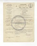 /!\ 1307 - Parchemin - 1836 - Paris -  Patente De Lapidaire - Manoscritti