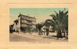 83 LA SEYNE PLACE MARTEL ESPRIT CARTE COLORISEE GLACEE GAUFREE - La Seyne-sur-Mer