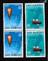 1983 San Marino Saint Marin EUROPA CEPT EUROPE 2 Serie Di 2v. Coppia MNH** - Europa-CEPT