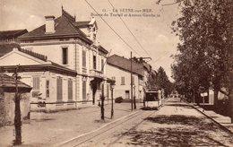 83 LA SEYNE BOURSE DU TRAVAIL ET AVENUE GAMBETTA ANIMEE TRAMWAY - La Seyne-sur-Mer
