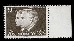 Monaco 1983 - Neuf - Scanné Recto Verso - Y&T N° PA 104 - Poste Aérienne - Rainier III Et Albert - 30,00 - Airmail