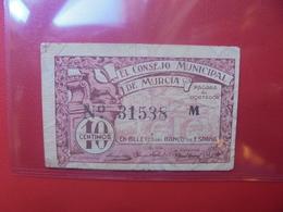 ESPAGNE(REVOLUTION) 10 CENTIMOS 1936 CIRCULER (B.6) - [ 2] 1931-1936 : República