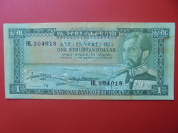 ETHIOPIE 1 DOLLAR 1966 CIRCULER (B.6) - Etiopía